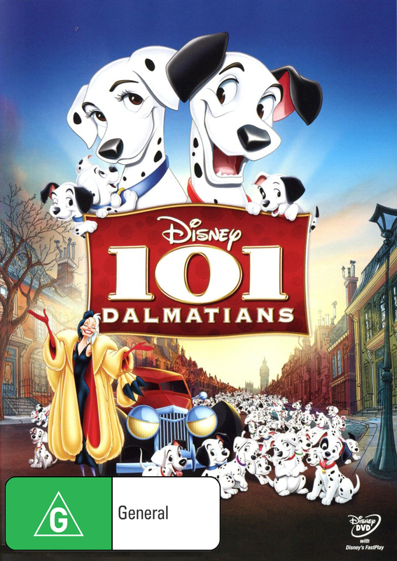 101 Dalmatians on DVD