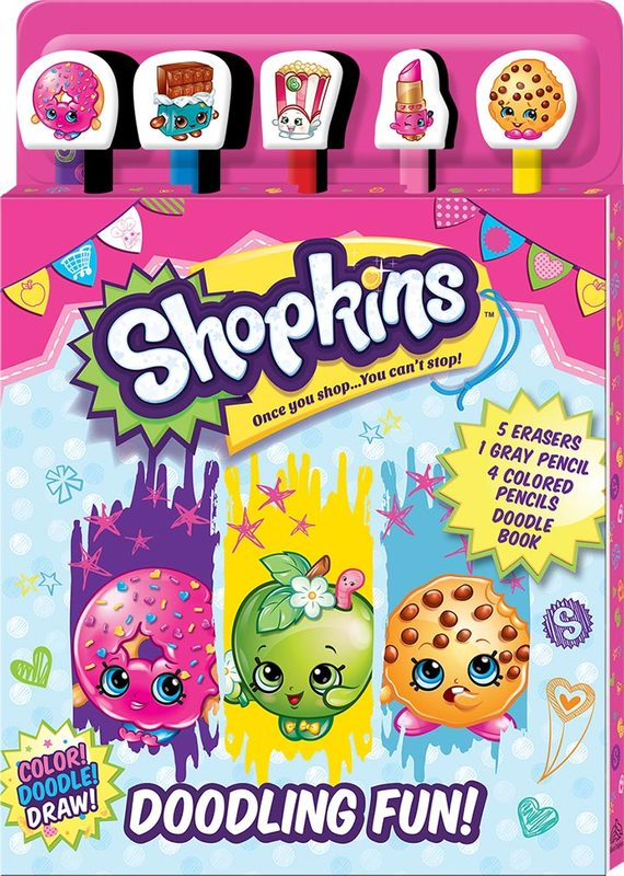 Shopkins: Pencil & Eraser - 5-Piece Set