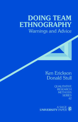 Doing Team Ethnography by Kenneth Cleland Erickson image