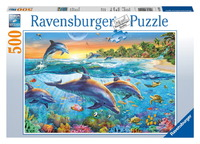 Ravensburger 500 Piece Jigsaw Puzzle - Dolphin Cove