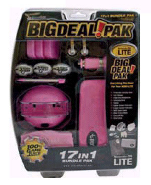 DS Lite 17 in 1 Bundle Pack - Pink for Nintendo DS