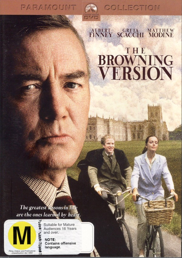 The Browning Version on DVD image