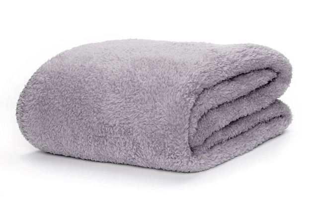 Snug Rug Sherpa Throw Blanket - Lilac Grey
