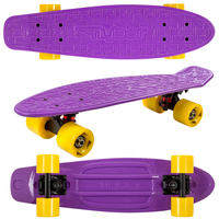 Flybar: Mini Cruiser Skateboard - Purple/Yellow image