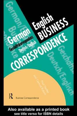 German/English Business Correspondence by Paul Hartley image