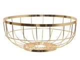 Open Grid Fruit Bowl - Gold