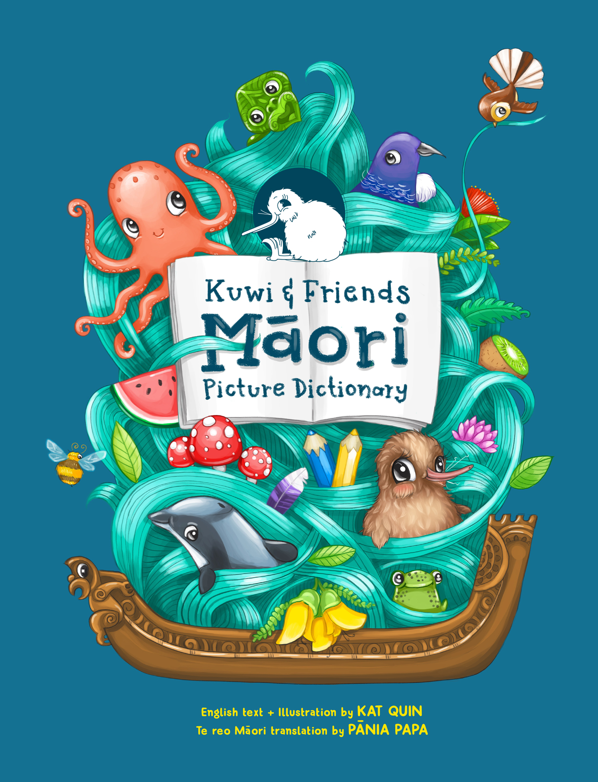 Kuwi & Friends Māori Picture Dictionary by Kat Merewether image