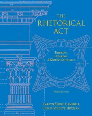 Rhetorical Act by Susan Schultz Huxman