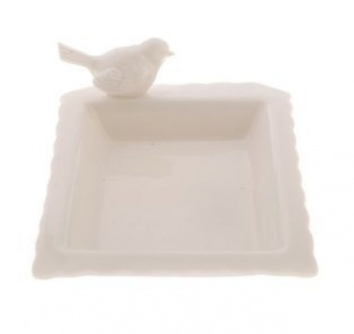 White Ceramic Bird Soap Dish At Mighty Ape Nz