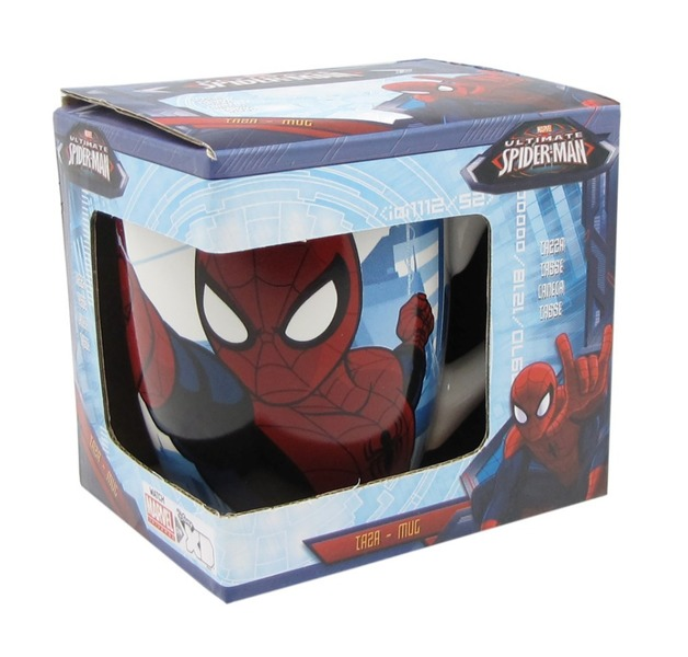 Marvel Spiderman Barrel Mug In Gift Box