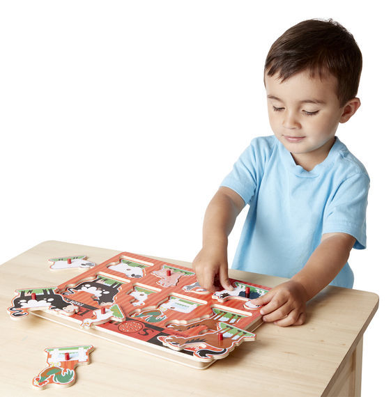Melissa & Doug: Farm Animals Wooden Sound Puzzle image