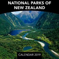 National Parks of New Zealand 2019 Mini Wall Calendar