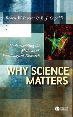 Why Science Matters by Robert W Proctor image
