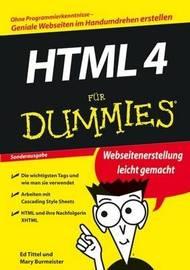 HTML 4 fur Dummies by Ed Tittel image