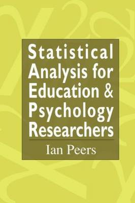 Statistical Analysis for Education and Psychology Researchers by Ian Peers image