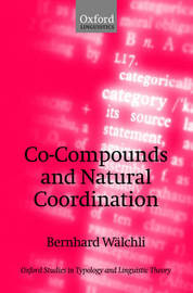 Co-Compounds and Natural Coordination by Bernhard Walchli image