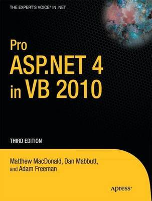 Pro ASP.NET 4 in VB 2010 by Matthew MacDonald