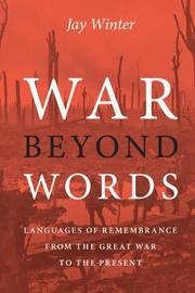 War beyond Words by Jay Winter