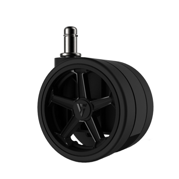 "Vertagear Racing Series 75mm/3"" Caster Black Edition - 1 set (5 casters) for"