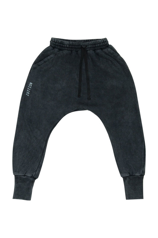 Zuttion Kids: Low Crotch Trackie Pants Charcoal - 6