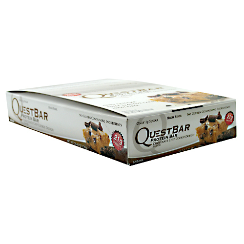 Quest Nutrition - Quest Bar Box of 12 (Chocolate Chip Cookie Dough) image