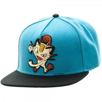 Pokemon Meowth Color Black Snapback