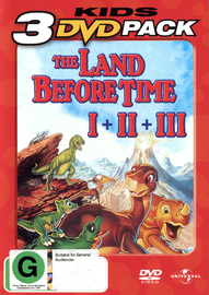 The Land Before Time I + II + III - Kids 3 DVD Pack (3 Disc Set) on DVD image