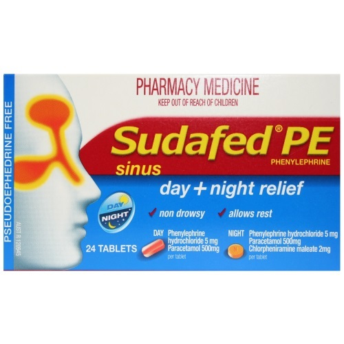 Buy Sudafed PE Day/Night Relief Tablets (24's) at Mighty Ape NZ