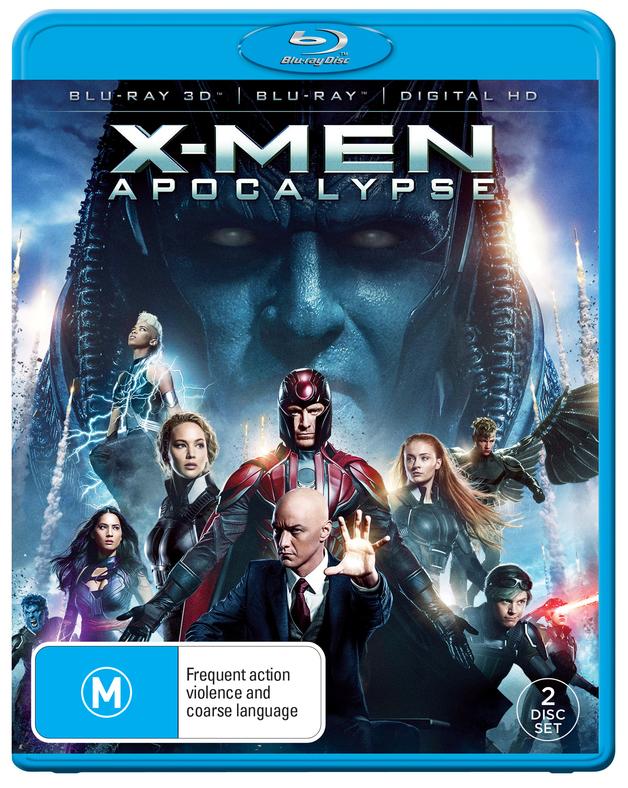 X-Men Apocalypse on Blu-ray, 3D Blu-ray
