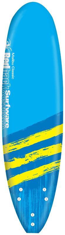"Redback Mini Malibu Soft Surfboard 6'2"" (Assorted Designs)"