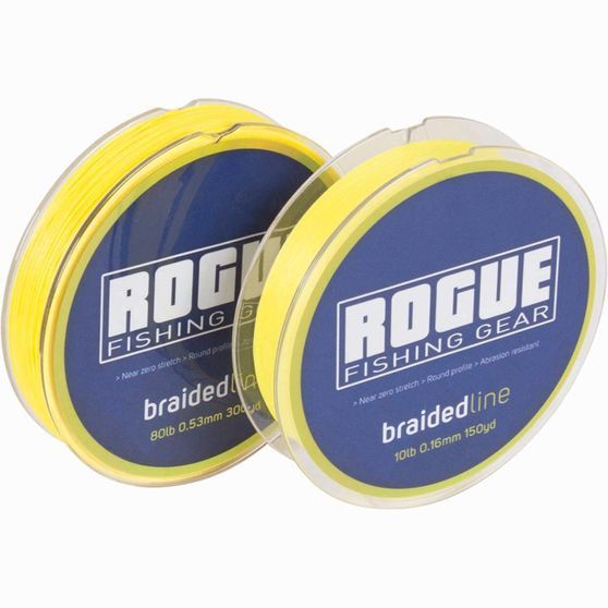 Line Braid 150Yd 20Lb Yellow Rogue