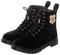 Harry Potter Quilted Womens Boots - Black (Size 8)