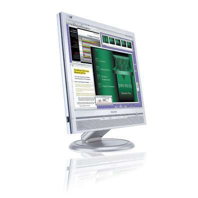 """Philips 170B6CS 17""""  LCD Monitor + FREE DiskTwinMOS Mobile Disk 256MB USB 2 Combo Special"""