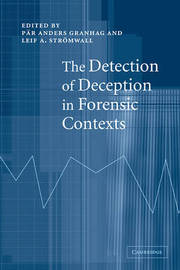 The Detection of Deception in Forensic Contexts image