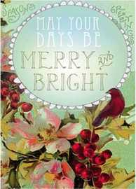 Papaya Merry And Bright Christmas Card