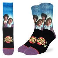 Good Luck Socks: Men's Bill & Ted's Wyld Stallyns Socks - Shoe Size 8-13