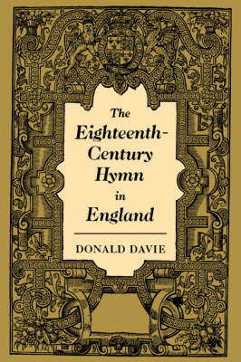 The Eighteenth-Century Hymn in England by Donald Davie image