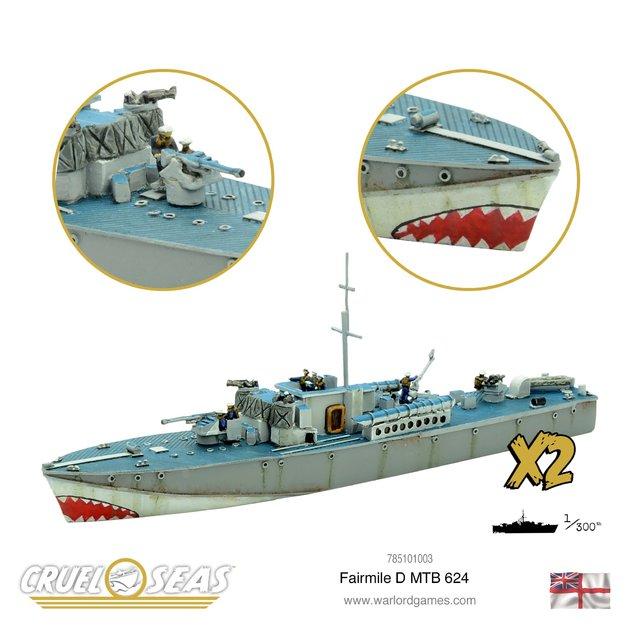 Cruel Seas: Fairmile D MTB 624