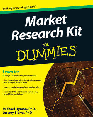 Marketing Research Kit For Dummies by Michael Hyman image