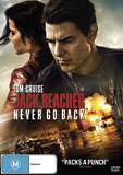 Jack Reacher 2: Never Go Back on DVD