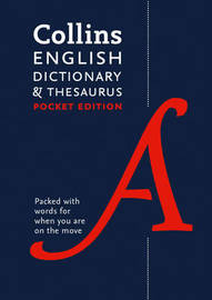 Collins English Pocket Dictionary and Thesaurus by Collins Dictionaries