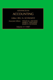 Advances in Accounting: v. 5 image