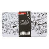 Jasart Sketch Pencil Tin - Set of 12