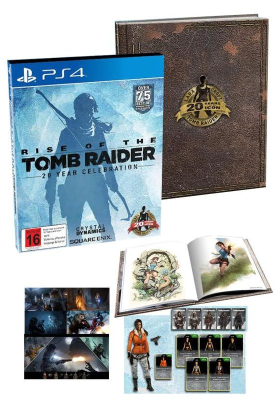 Rise Of The Tomb Raider 20 Year Celebration Limited Edition Ps4