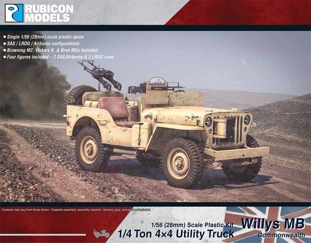 Rubicon 1/56 Willys Jeep MB ¼ ton 4x4 Truck - Commonwealth