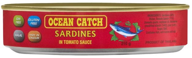 Oceancatch Sardines in Tomato Sauce 210g
