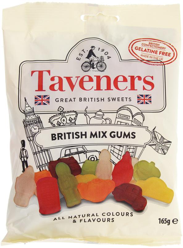 Taveners Great British Sweets British Mix Gums 165g 12pk
