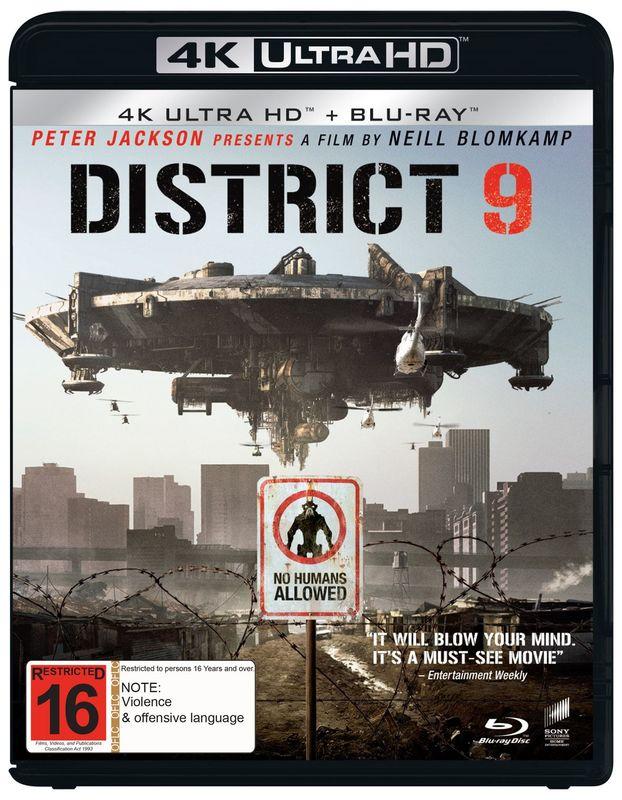 District 9 (4K UHD + Blu-ray) on UHD Blu-ray