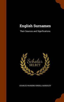 English Surnames by Charles Wareing Endell Bardsley image