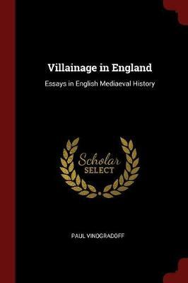 Villainage in England by Paul Vinogradoff image